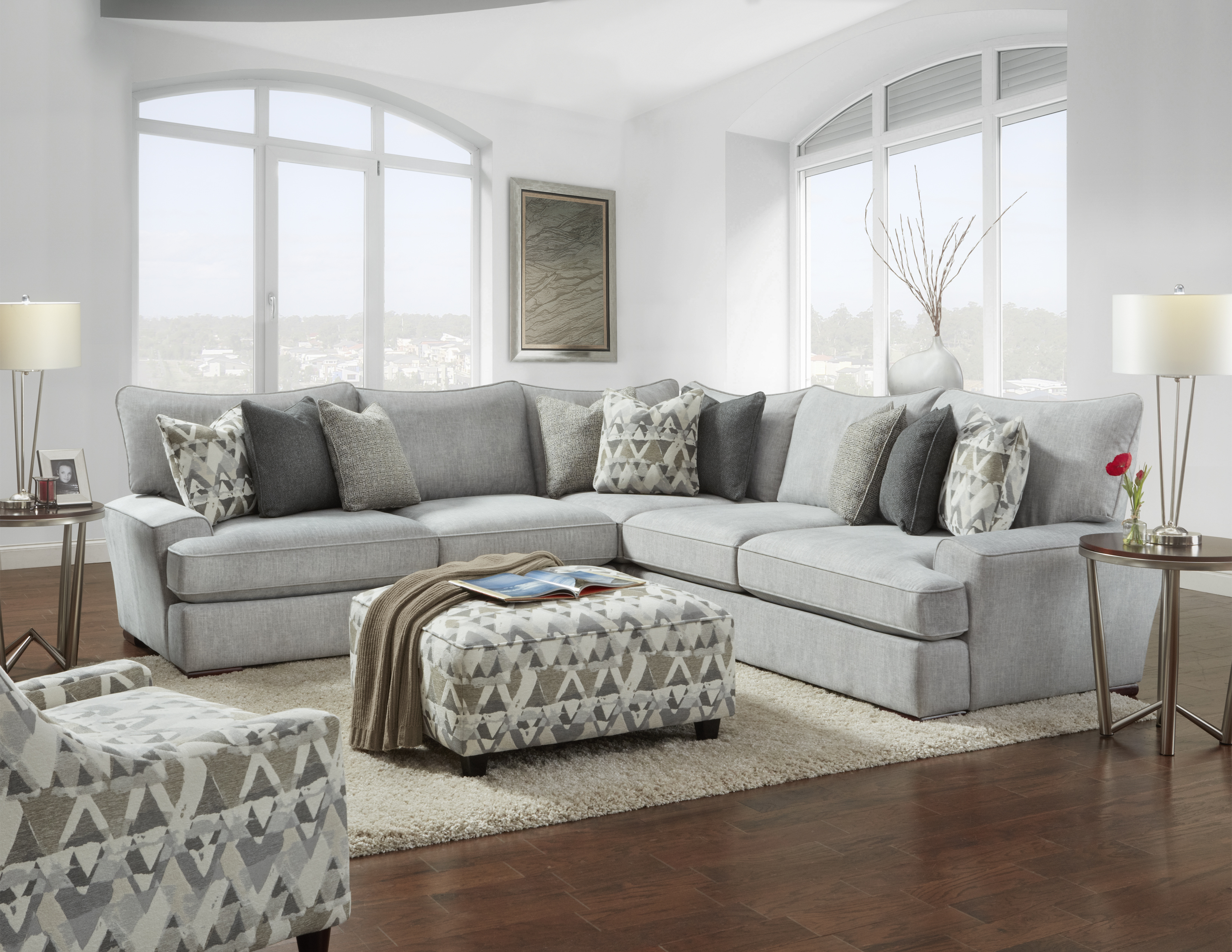 Fusion Furniture Alton Silver room collection