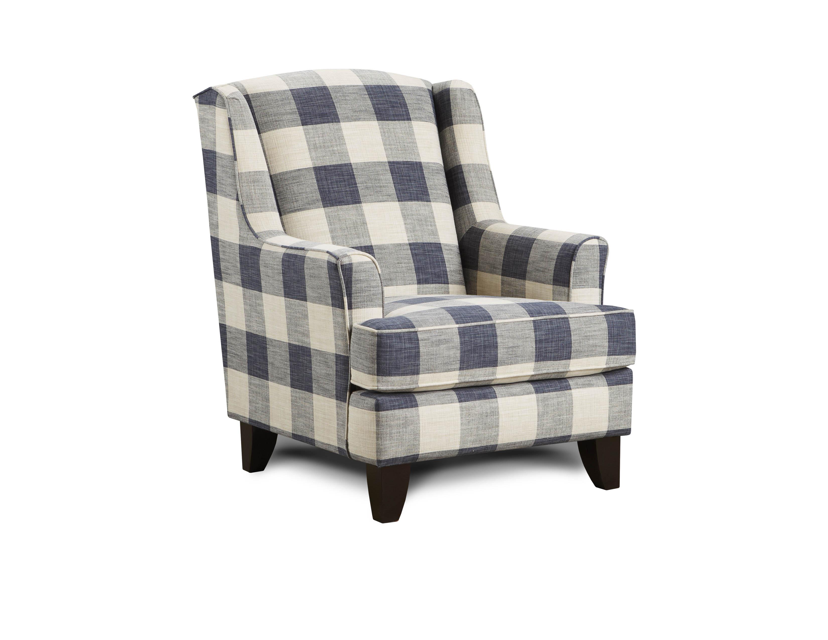 Yucatan Indigo Fusion Furniture chair, Catalina Linen collection