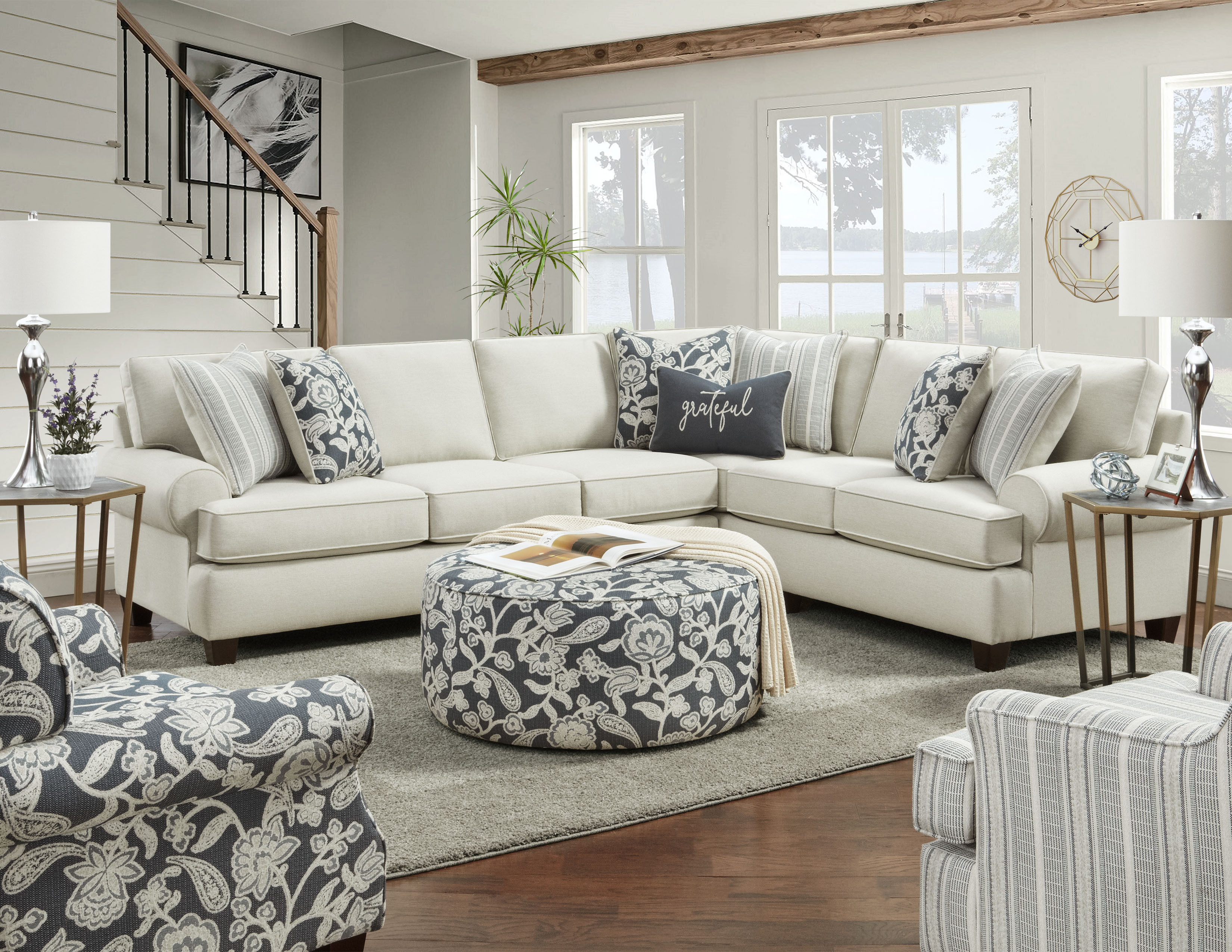 Fusion Furniture Awesome Oatmeal room collection
