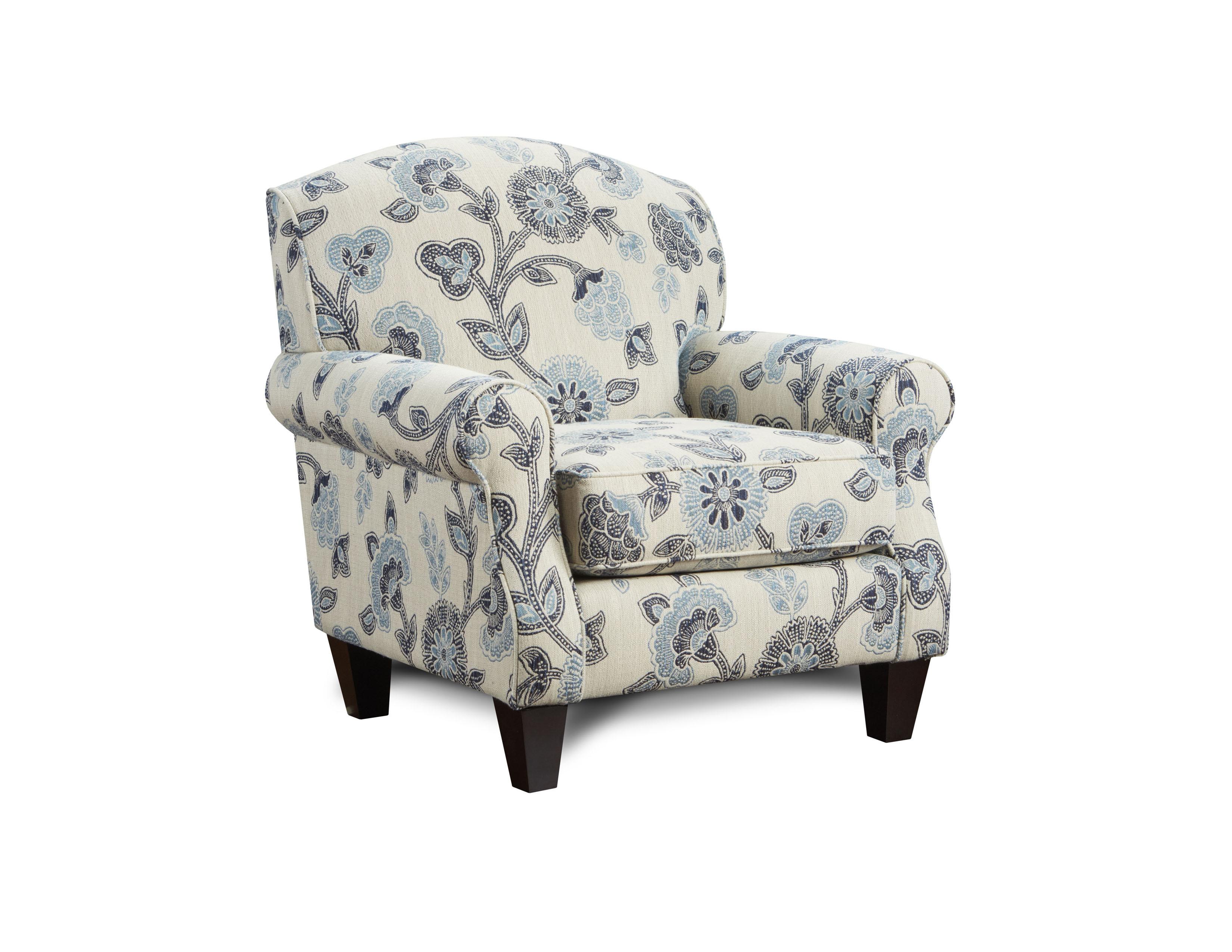 Maya Indigo Fusion Furniture chair, Catalina Linen collection
