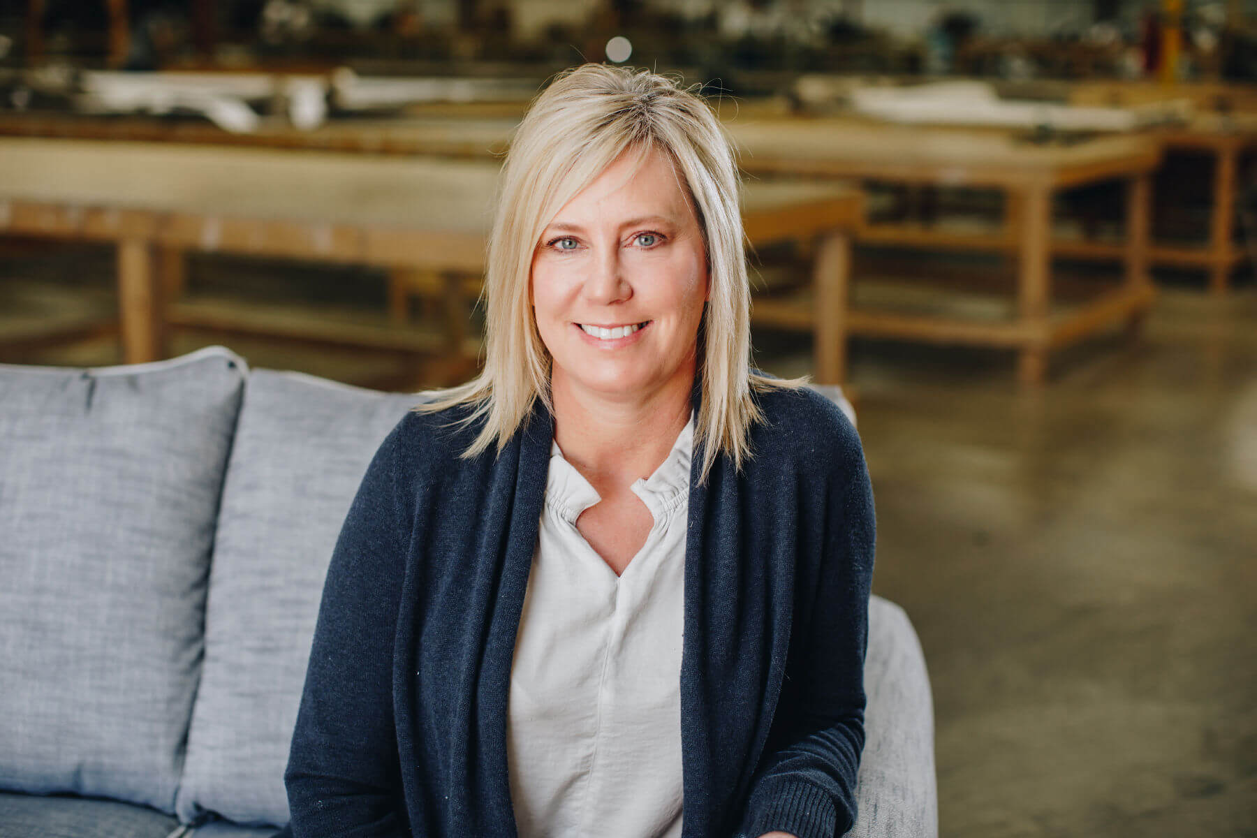 Fusion Furniture owner and merchandiser, Alison Robbins