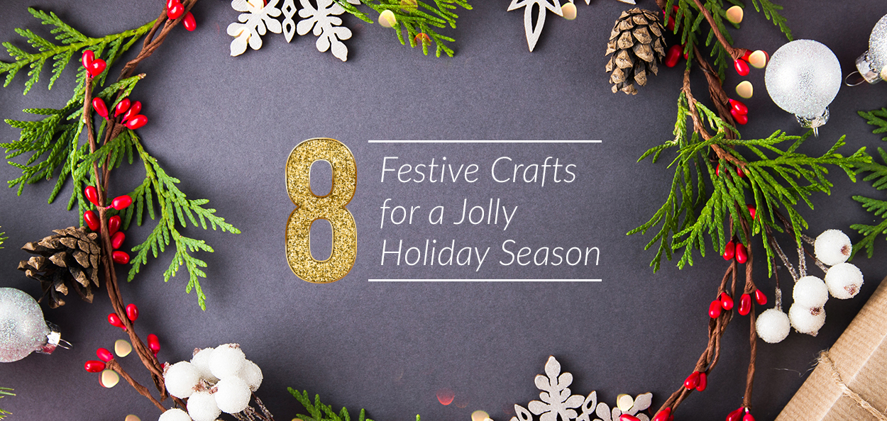 Festive holiday crafts