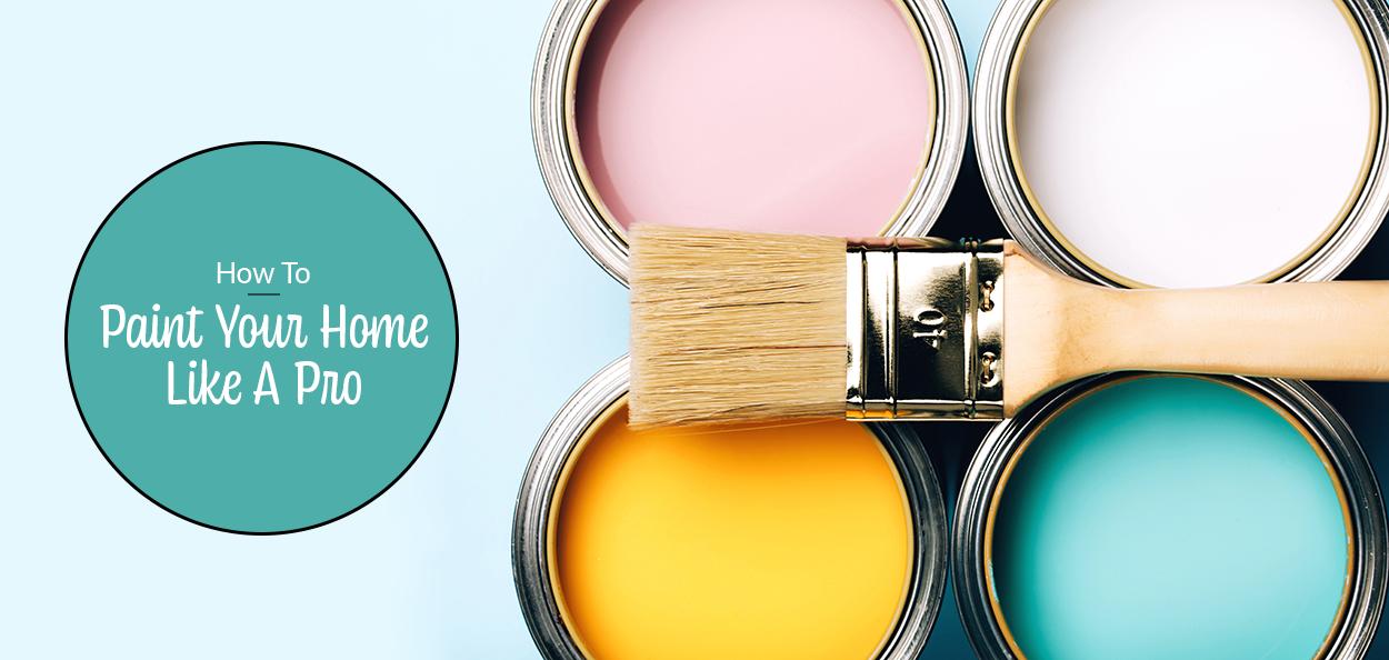 Paint pots and paintbrush