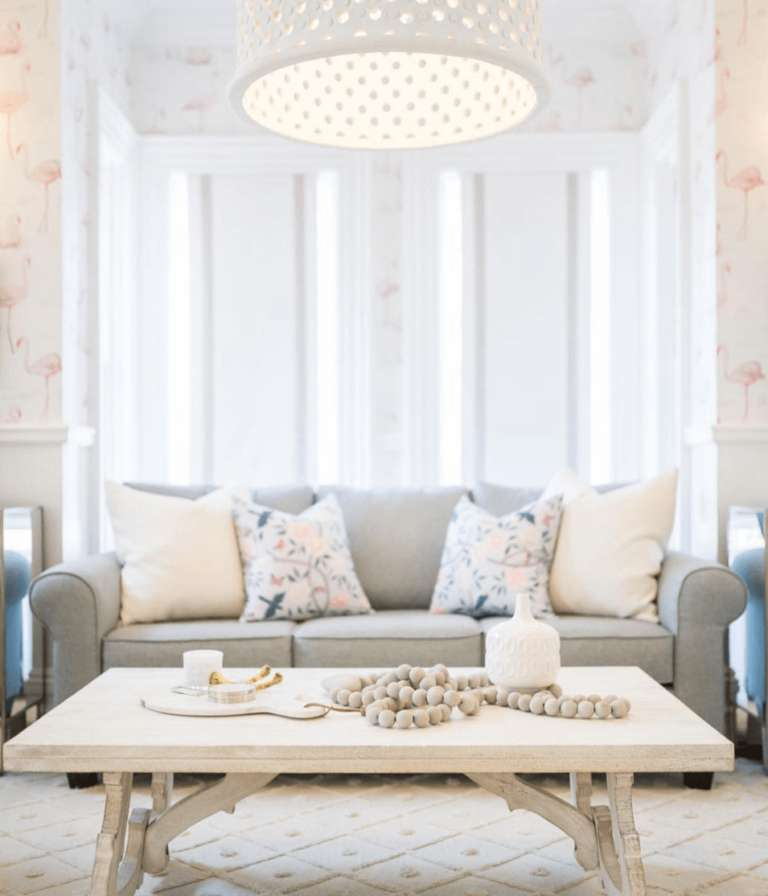 Light grey Fusion Furniture sofa