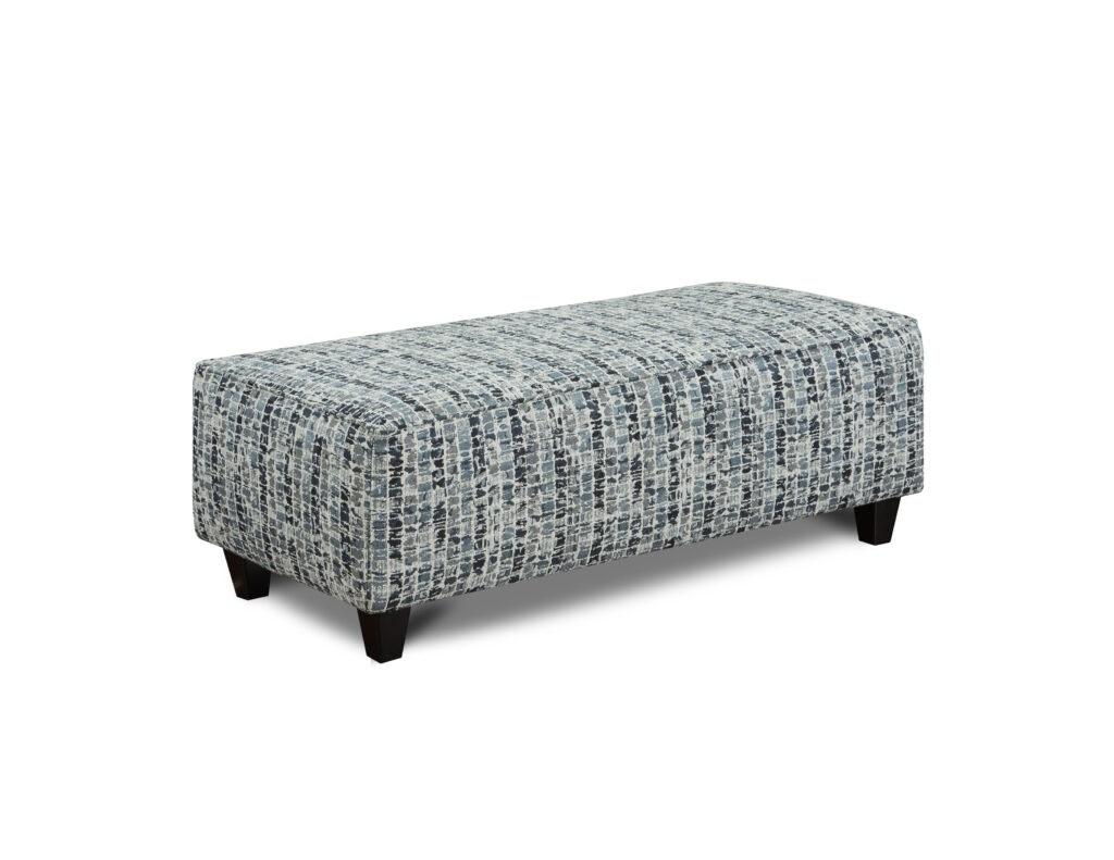 Highrise Indigo Fusion Furniture ottoman, Macarena Cadet collection