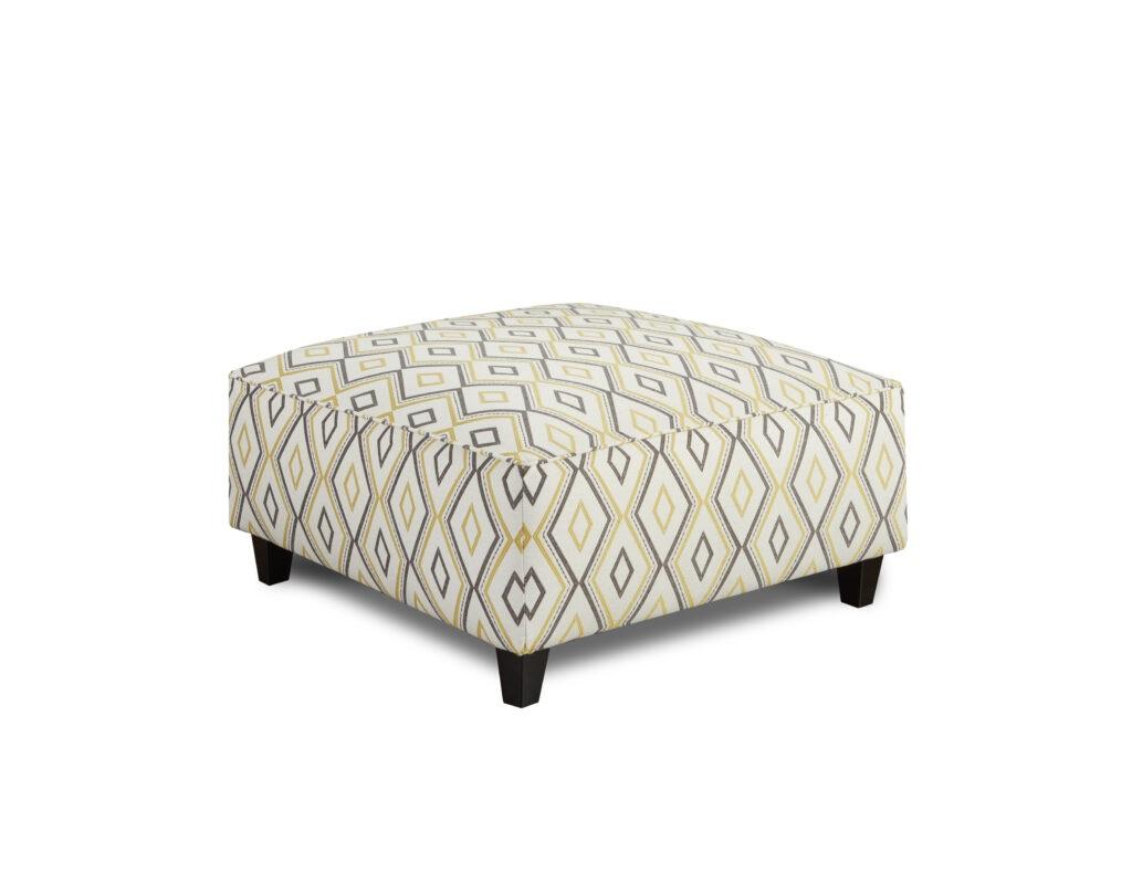 DD Con Fusion Furniture ottoman, Maxwell Gray Dijon collection