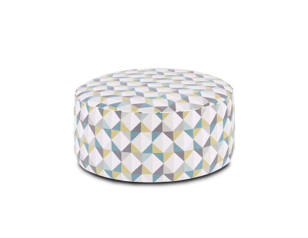 Denmark Caper Fusion Furniture ottoman, TNT Nickel collection