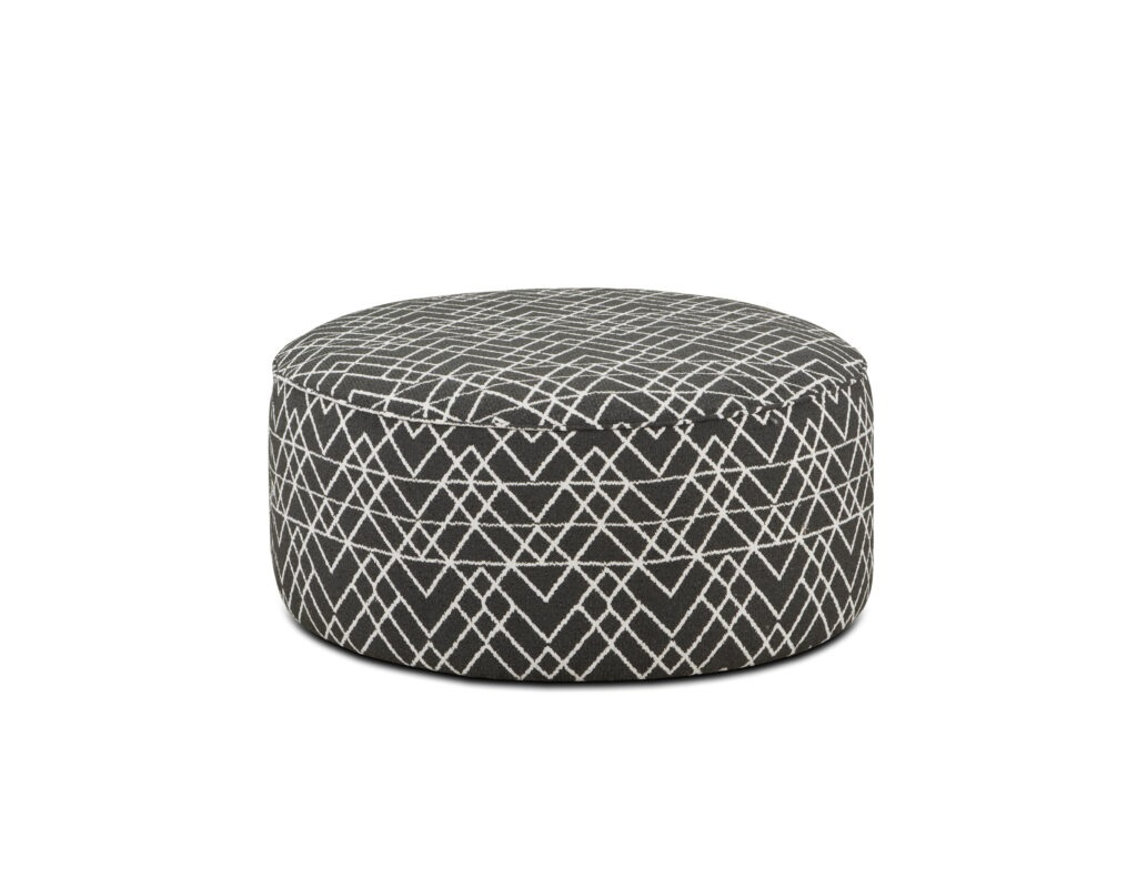 Hyphen Onyx Fusion Furniture ottoman, Popstitch Shell collection