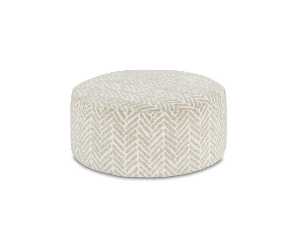 Passageway Vanilla Fusion Furniture ottoman, Vibrant Vision Oatmeal collection