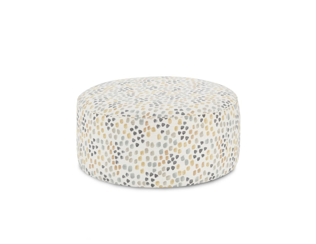 Pfeiffer Canyon Fusion Furniture ottoman, Max Linen collection