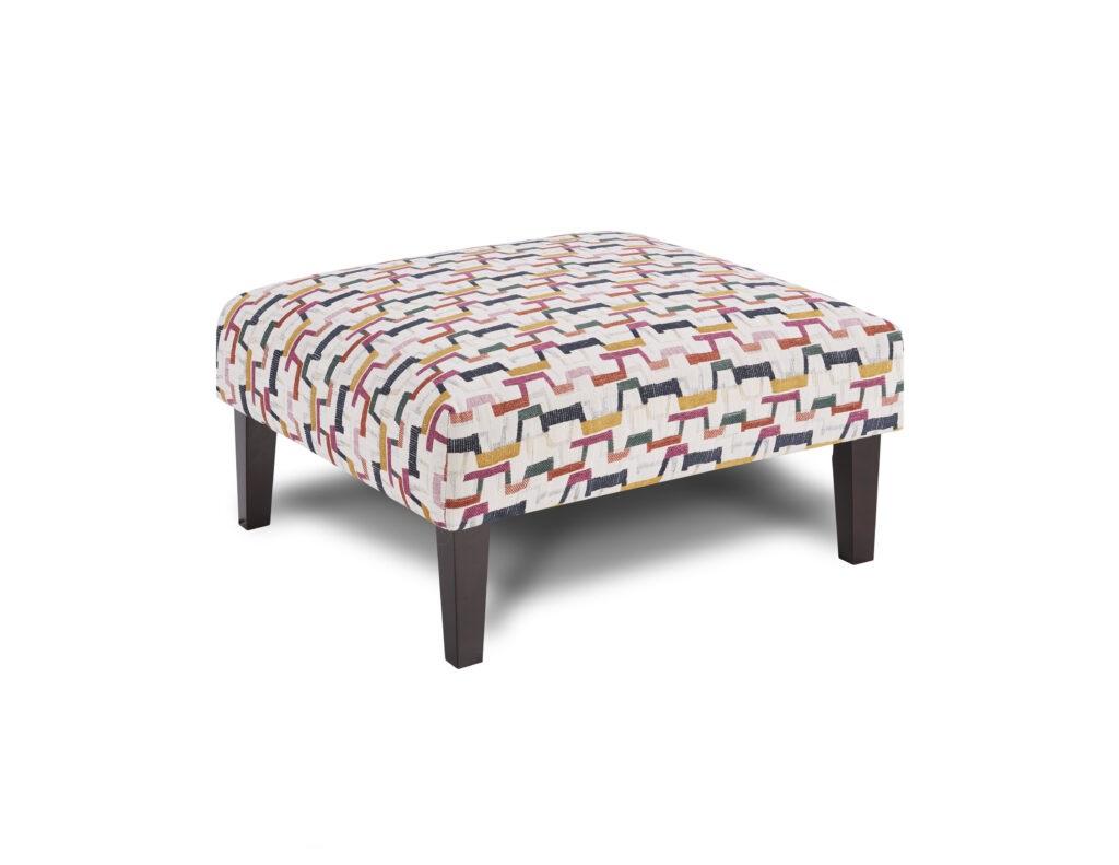 Fiddlesticks Confetti Fusion Furniture ottoman, Theron Indigo collection