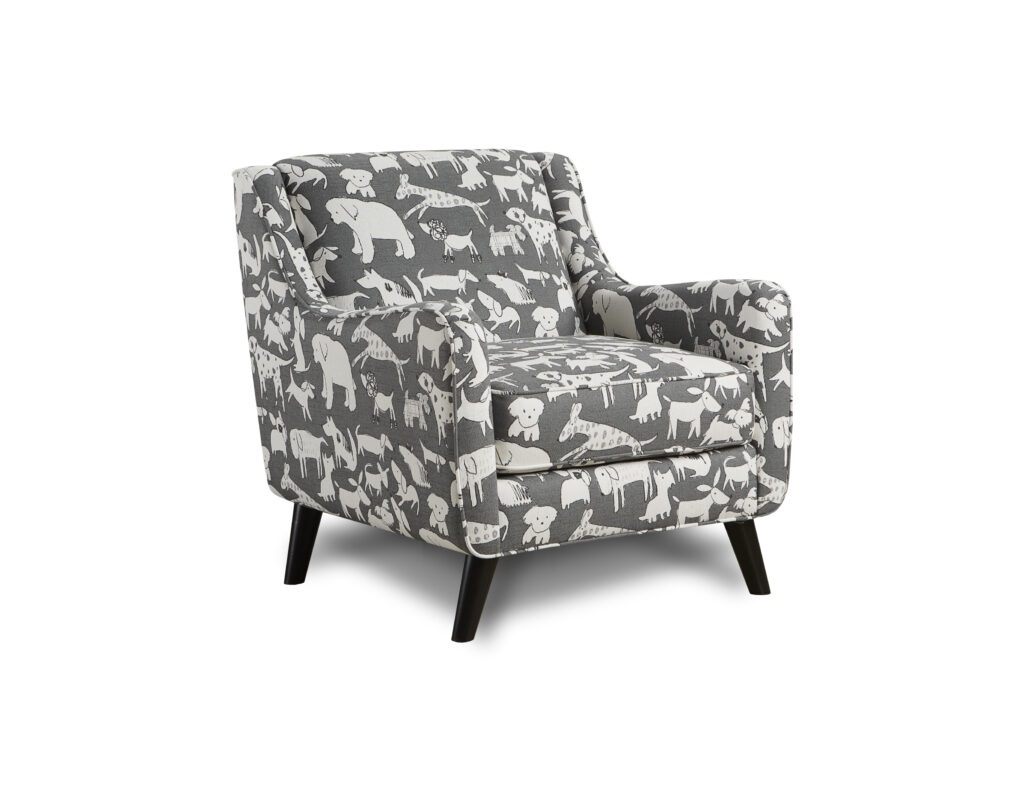 Doggie Graphite Fusion Furniture chair, Popstitch Shell collection