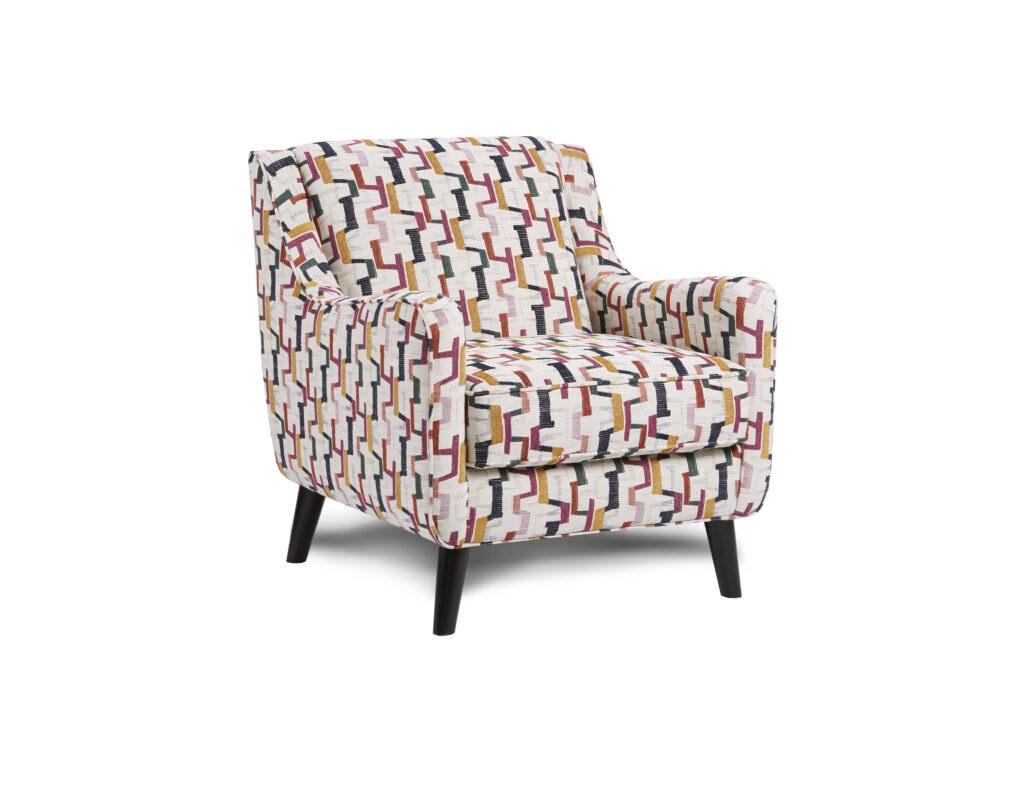 Fiddlesticks Confetti Fusion Furniture chair, Theron Indigo collection