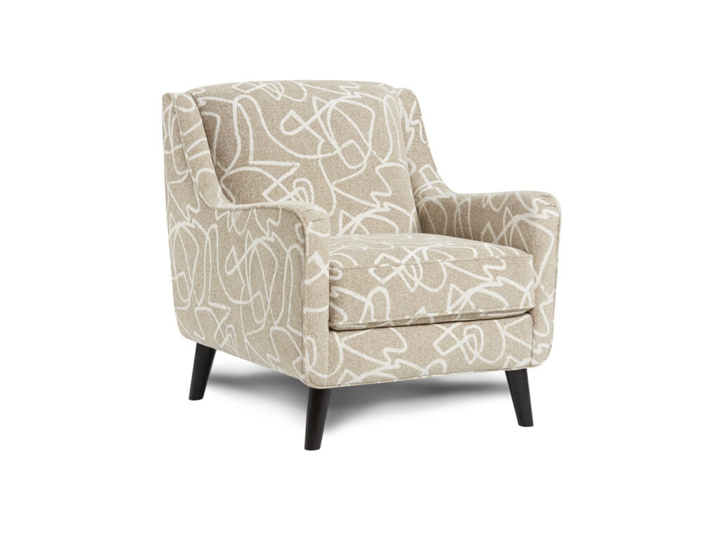 Scribble Blonde Fusion Furniture chair, Braxton Ivory collection