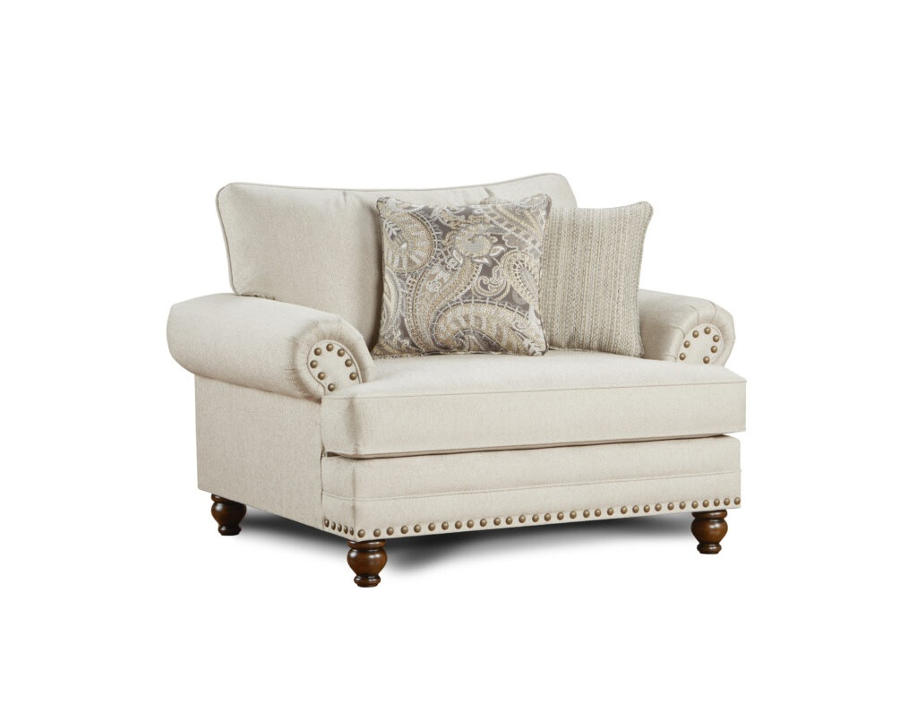 Carys Doe Fusion Furniture chair with pillows