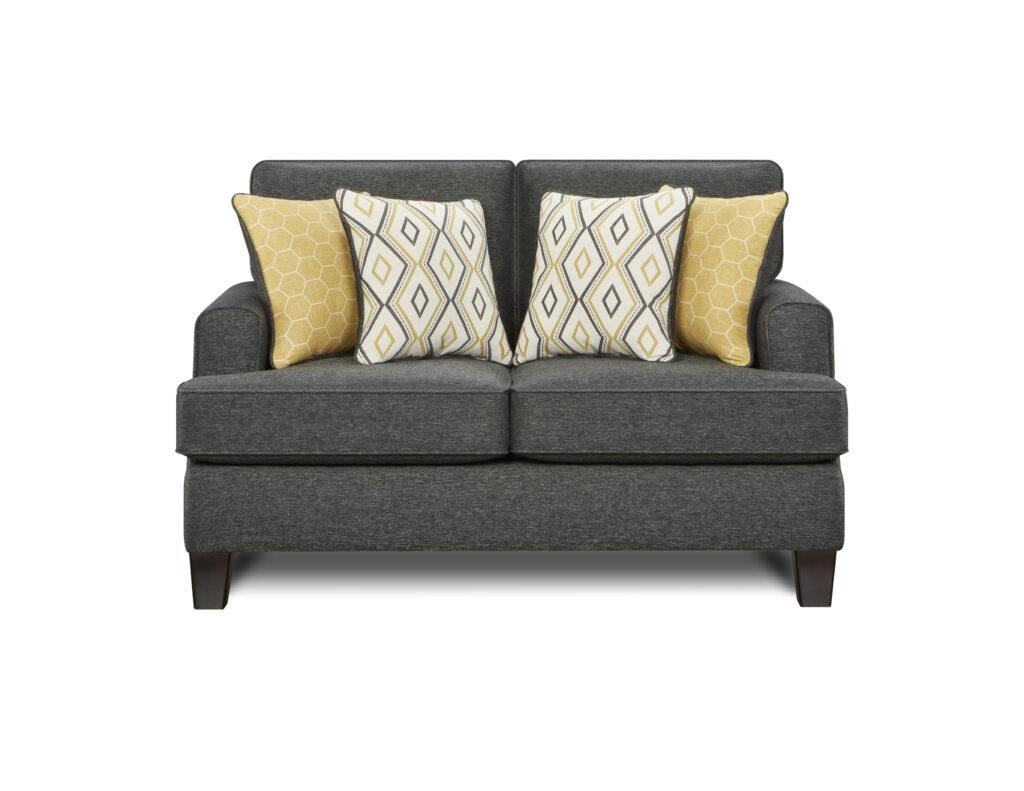 Maxwell Gray Dijon Fusion Furniture loveseat