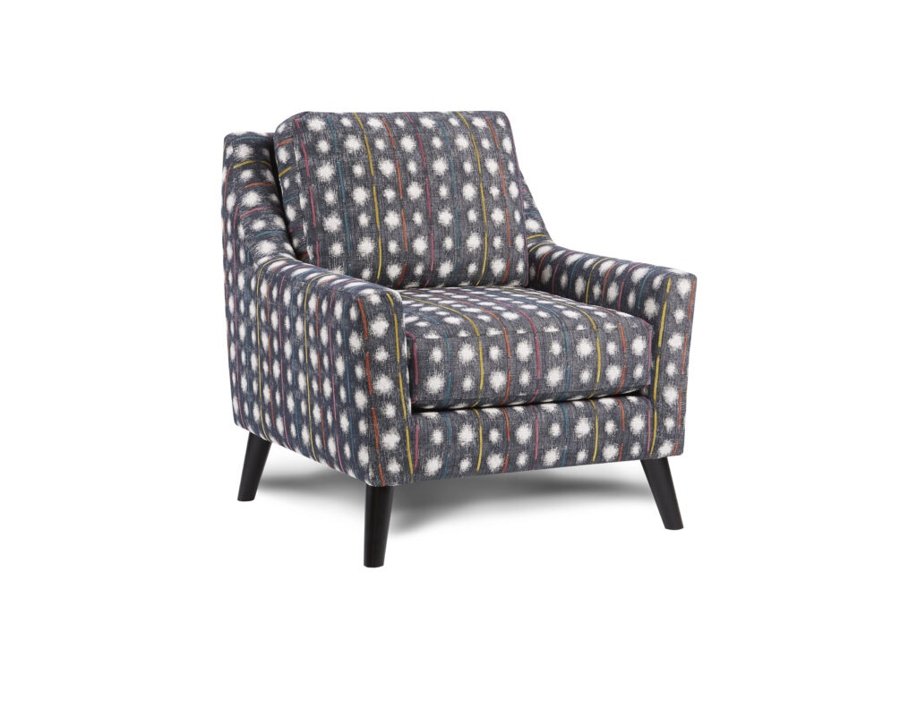 Bindi Crayola Fusion Furniture chair, Theron Indigo collection