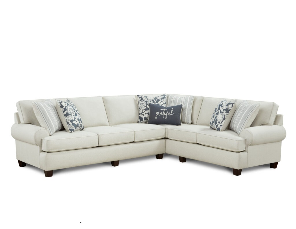 Awesome Oatmeal Fusion Furniture sectional