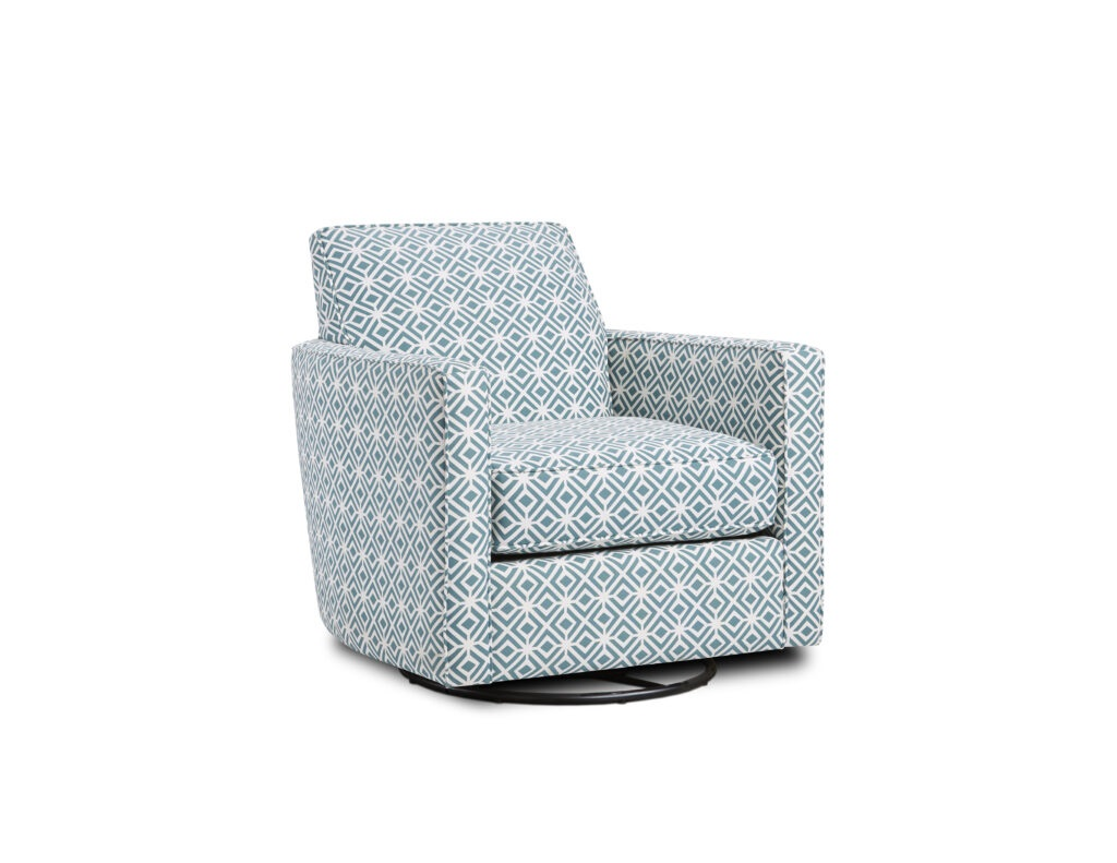 Rupert Teal Fusion Furniture chair, TNT Nickel collection