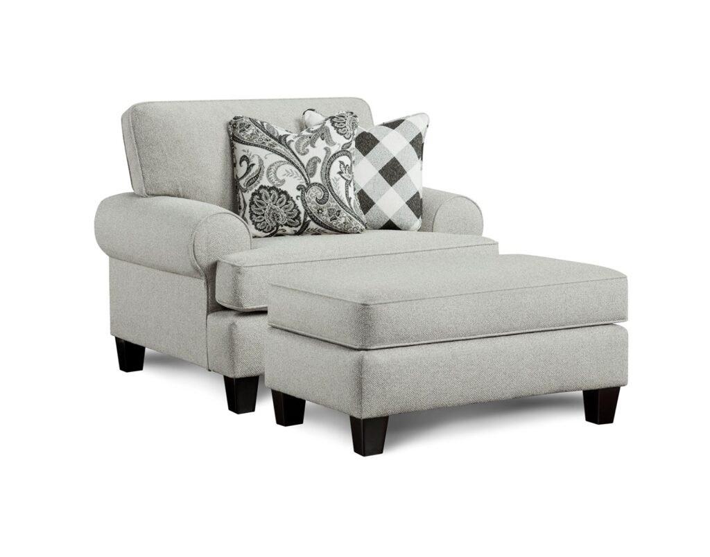 Shadowfox Dove Fusion Furniture chair with ottoman