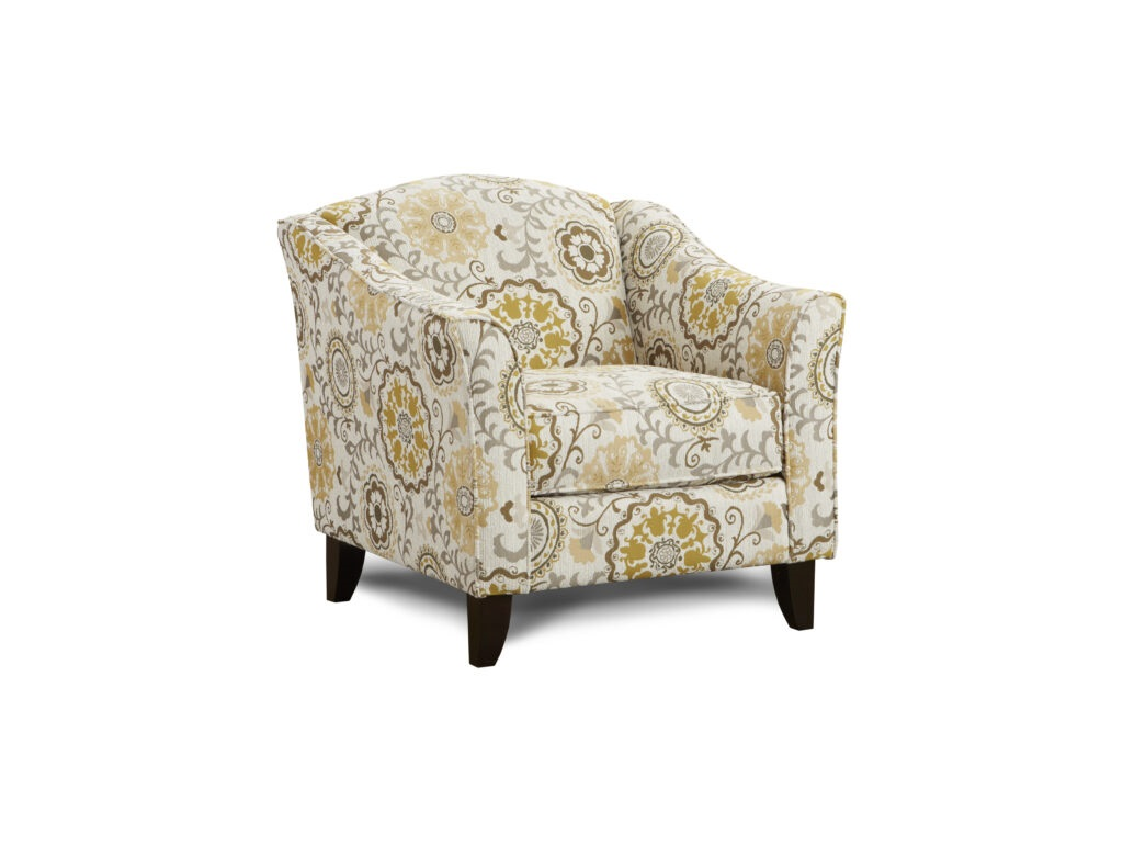 Alpenrose Daisy Fusion Furniture chair, Romero Sterling collection