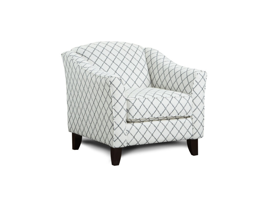 Muse Blue Fusion Furniture chair, Macarena Cadet collection