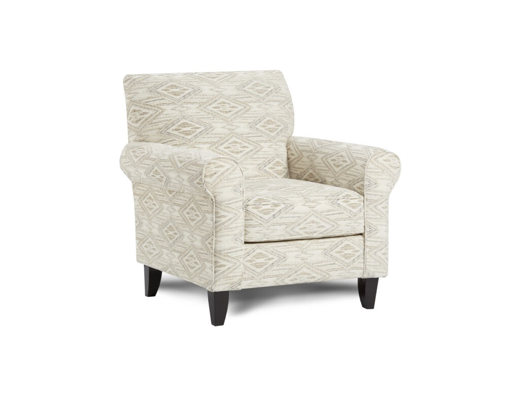 Western Front Blanco Fusion Furniture chair, Vibrant Vision Oatmeal collection