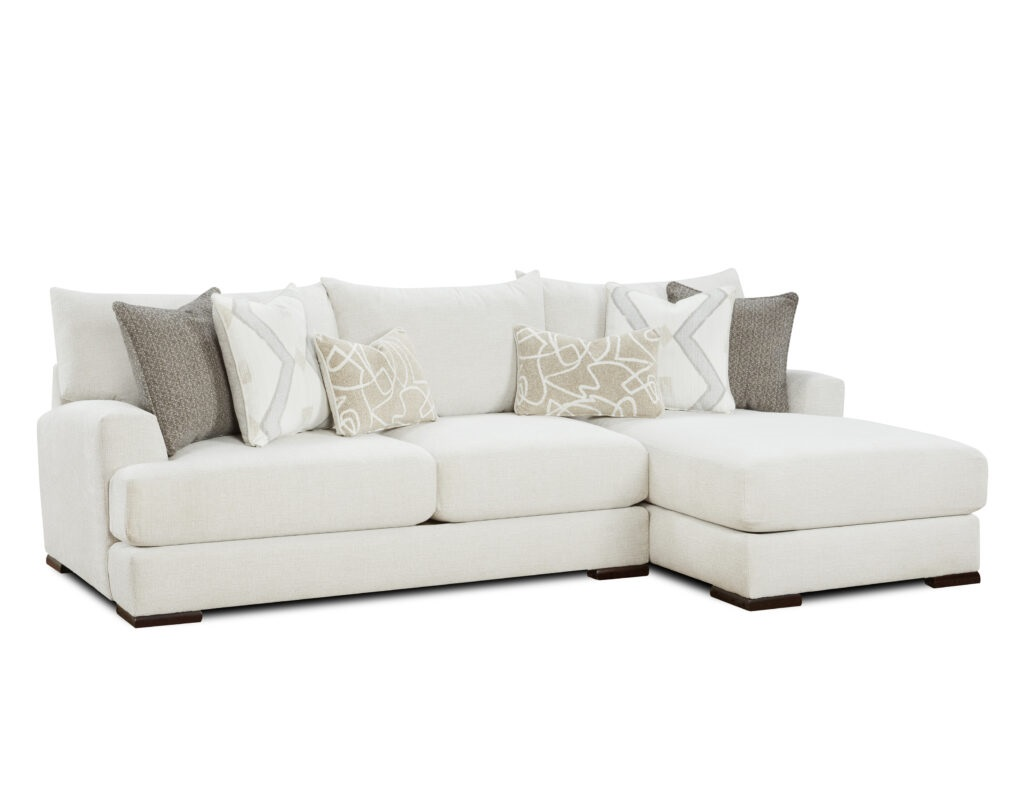Braxton Ivory Fusion Furniture 2 Piece Sectional