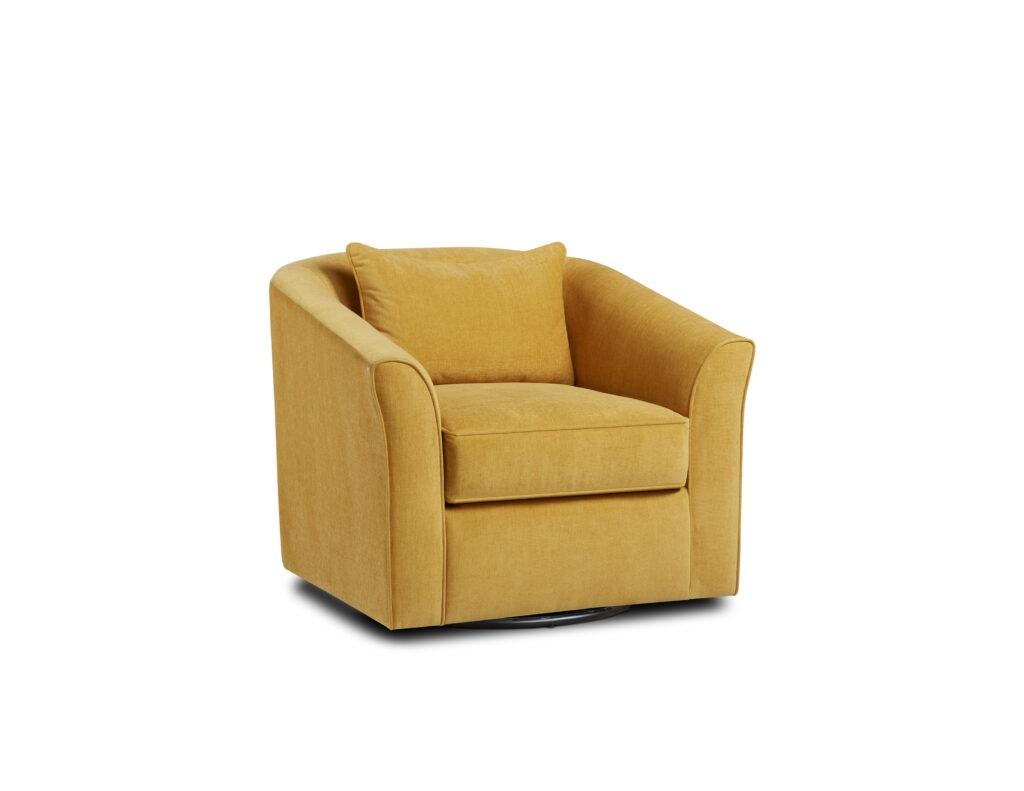 Ethan Topaz Fusion Furniture chair, Theron Indigo collection