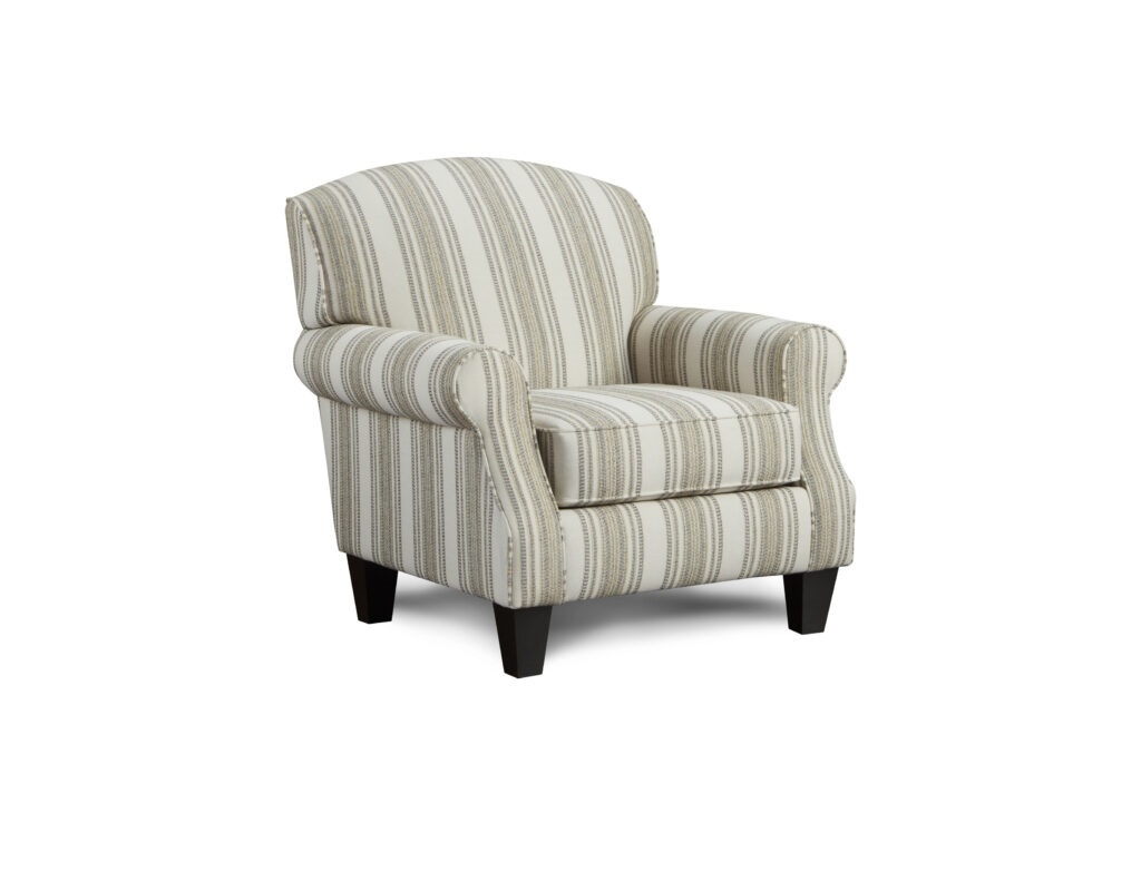 Birmingham Sterling Fusion Furniture chair, Romero Sterling collection