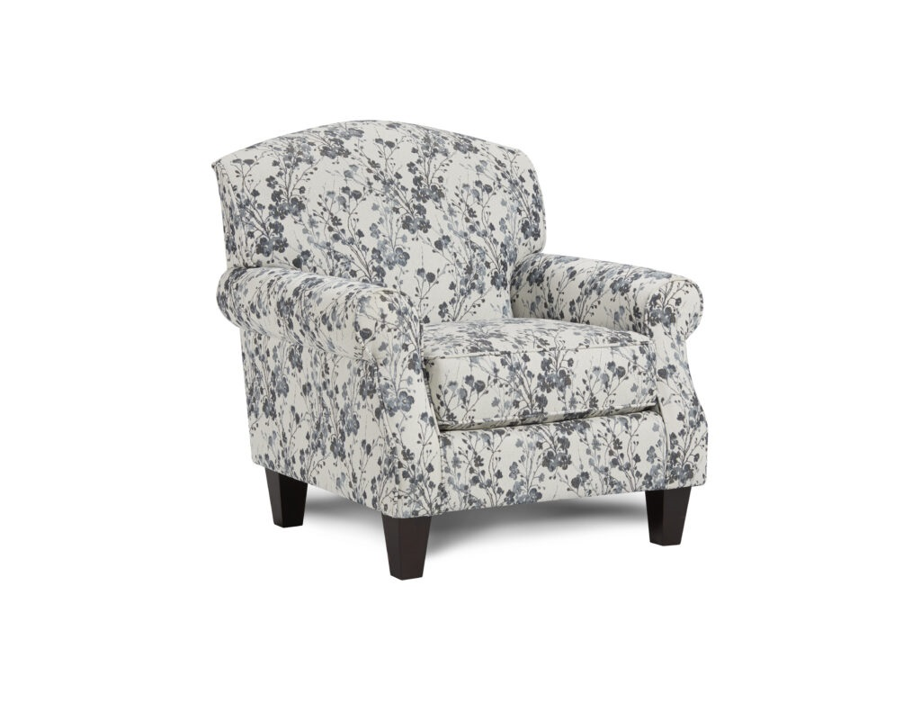 Fresia Denim Fusion Furniture chair, Truth or Dare Salt collection
