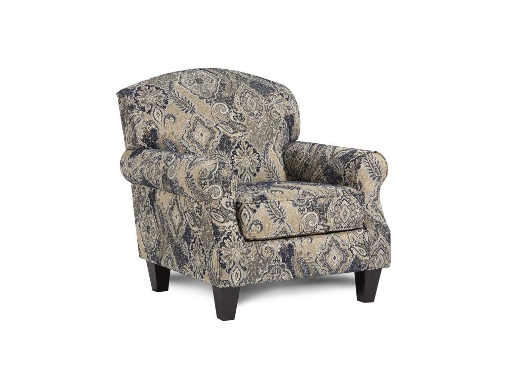 Harcourt Indigo Fusion Furniture chair, Truth or Dare Spice collection