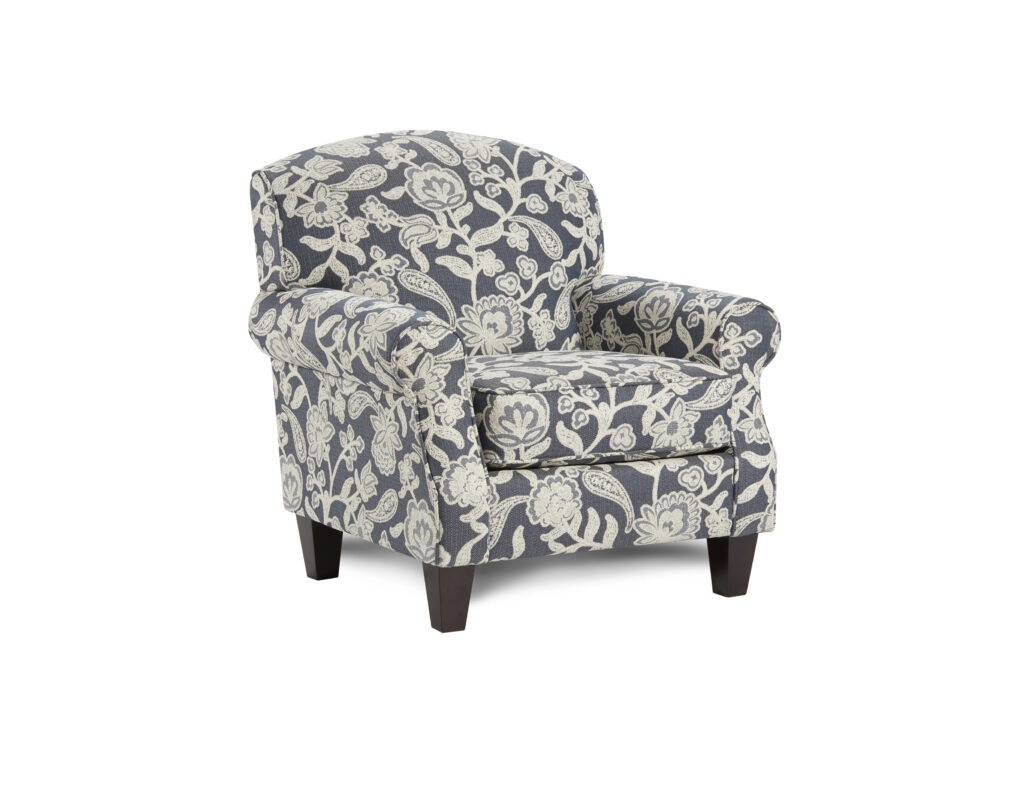 Sophie Indigo Fusion Furniture chair, Awesome Oatmeal collection