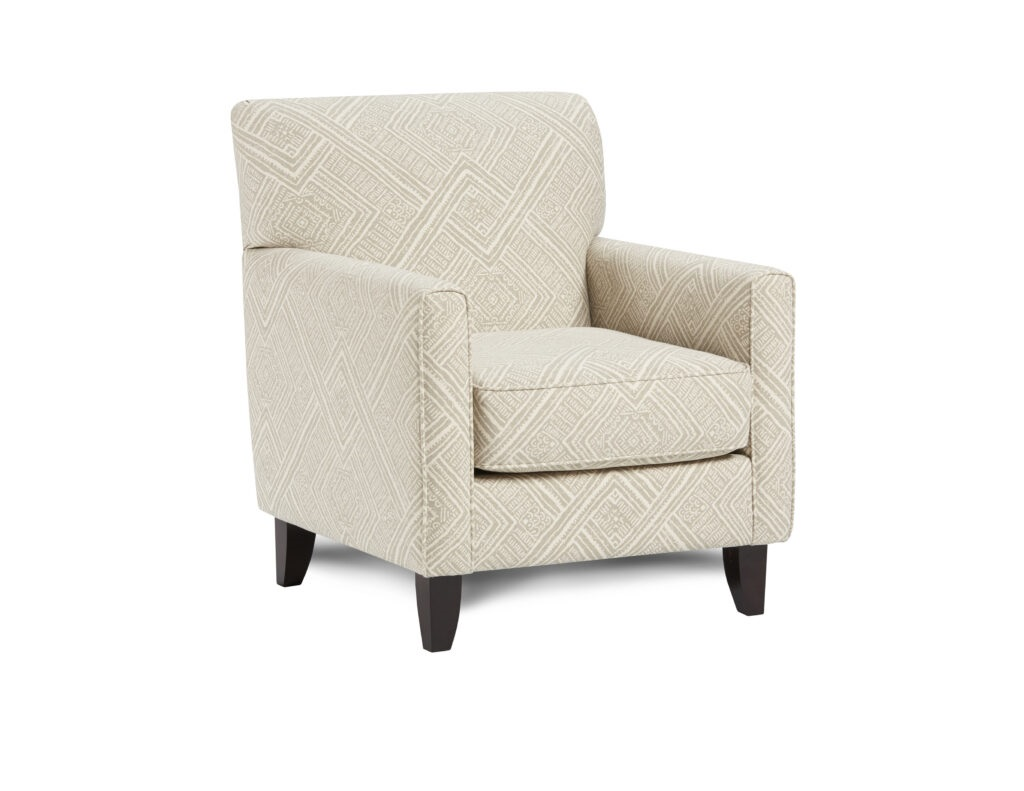 Algiers Sterling Fusion Furniture chair, Max Linen collection