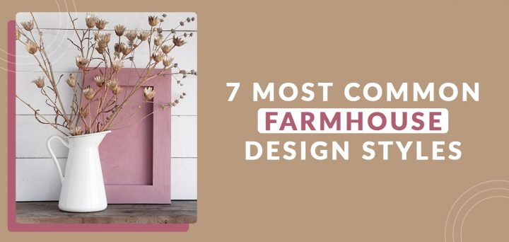Farmhouse design style with flower vase