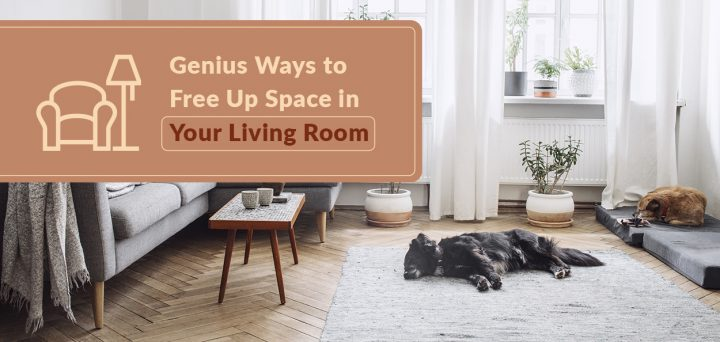 Genius Ways to Free Up Space in Your Living Room