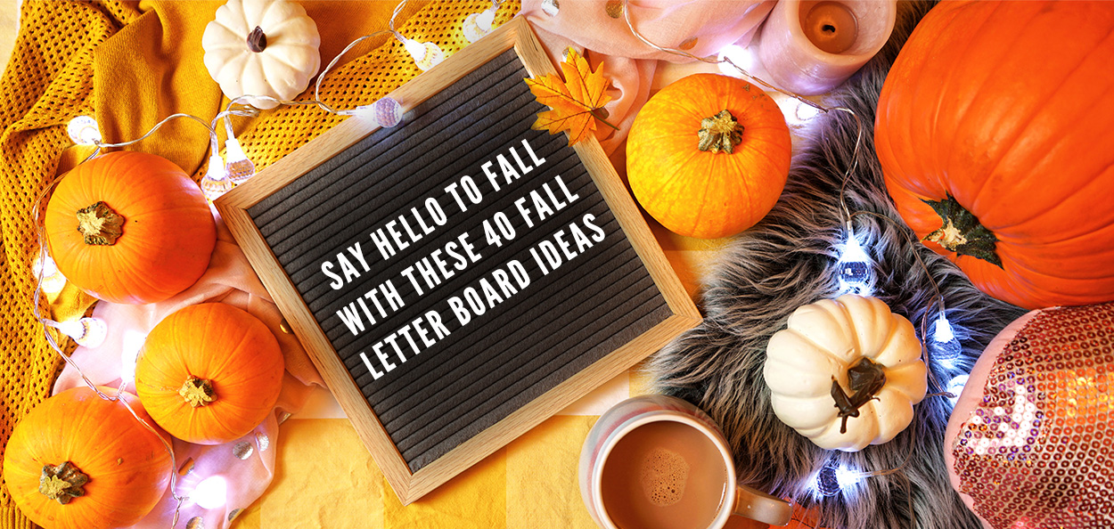 Fall letter board idea